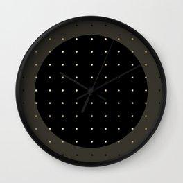"""""""Central Circle Grey Polka dots"""" Wall Clock"""