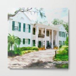 White Palm House Metal Print