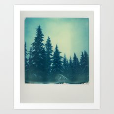 Mountain Trees Art Print
