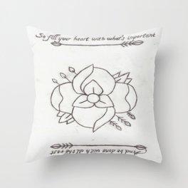 La Dispute Logo Tattoo Throw Pillow