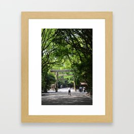 Atsuta Shrine Torii Gate Framed Art Print