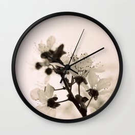 Blossoms Monochrome Wall Clock