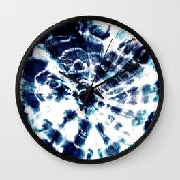 Tie Dye Sunburst Blue Wall Clock