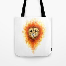 Gesture Lion with Mane Tote Bag