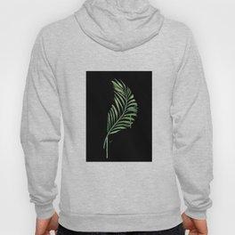 Black Palm Leaf Hoody