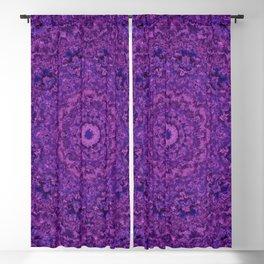 Purple Fuzzy Mandala Blackout Curtain