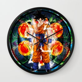 Goku Powering up Wall Clock