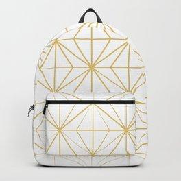 Geometric Golden Pattern Backpack