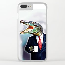 Business Croc Clear iPhone Case