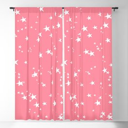 Paradise Pink Stars Blackout Curtain