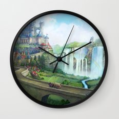 epic fantasy castle  Wall Clock