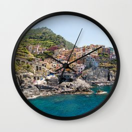 Manarola is one of the most beautiful islands of Cinque Terre Wall Clock