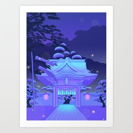 Blue Daydream Art Print