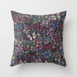 midnight fantasy butterflies aflutter Throw Pillow