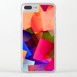 Play with transparent cubes and plates Clear iPhone Case