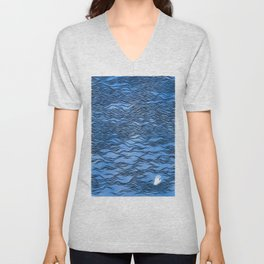 Man & Nature - The Dangerous Sea Unisex V-Neck