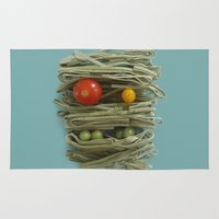pasta Area & Throw Rugs featuring A Thing of the Pasta 2  by Marco Angeles