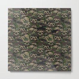 Sloth Camouflage Metal Print