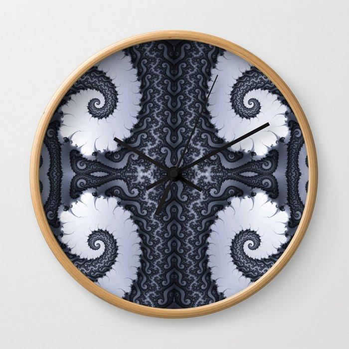 Fractal Art - Glacier I Wall Clock