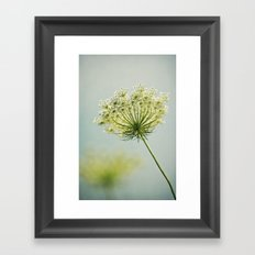 The Lady's Lace Framed Art Print