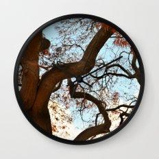 Purple Japanese Maple Wall Clock