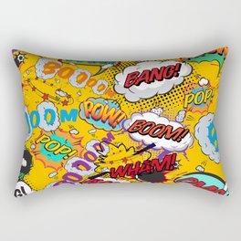Comic Book Pop Art Shout Outs Modern Fun Rectangular Pillow