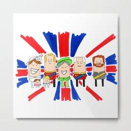 God Save the Queen | @makemeunison Hand Drawn Art Metal Print