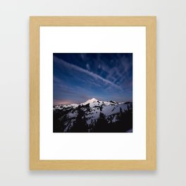 Mount Baker - Nature Photography Framed Art Print
