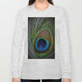Peacock Feather Closeup Long Sleeve T-shirt