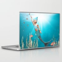 little mermaid Laptop & iPad Skins featuring Little Mermaid by Simone Gatterwe