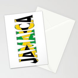 Jamaica Flag Font Stationery Cards