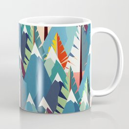 Mountains and Spruces Pattern Coffee Mug