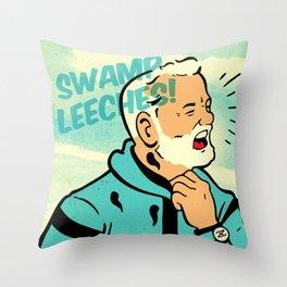 Swamp Leeches! Throw Pillow