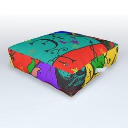 Baphomet Popart Outdoor Floor Cushion