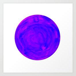 purple pink watercolor swirl sphere Art Print