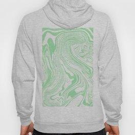 Pastel green & White marble Swirls Hoody