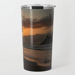 Sunset Beach in Golden Hour Travel Mug
