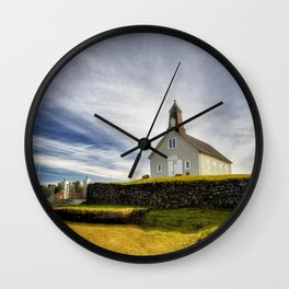 Church on the Hill - Iceland Wall Clock
