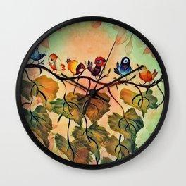 Spring Peeps Wall Clock