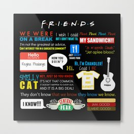 Friends Quote Collage Metal Print