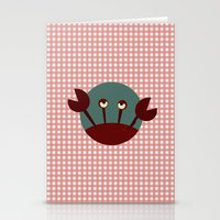 crab Stationery Cards featuring Crab by Mr and Mrs Quirynen