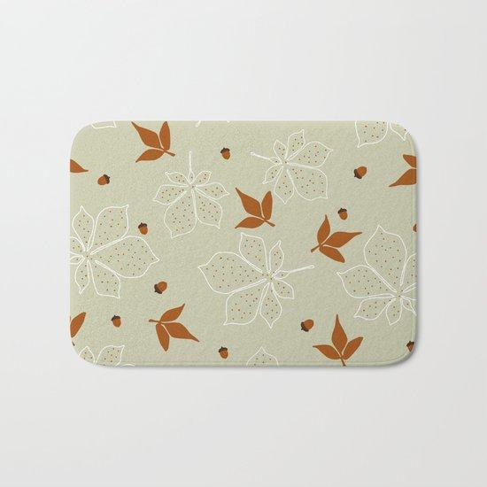 Autumn Leaves Pattern Bath Mat