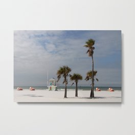 Clearwater Beach In Wintertime Metal Print