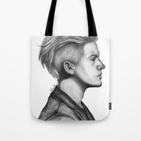 dylan Tote Bags featuring Dylan by Emily Smith (Emzstuff)