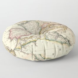 Vintage Map of The Roman Empire (1815) Floor Pillow