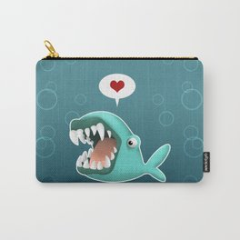 Carnivorous Whale wants Love Carry-All Pouch