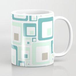 Retro Squares Mid Century Modern Background Coffee Mug
