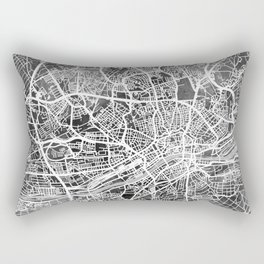Frankfurt Germany City Map Rectangular Pillow