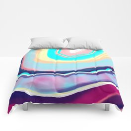 Colorful agate Comforters
