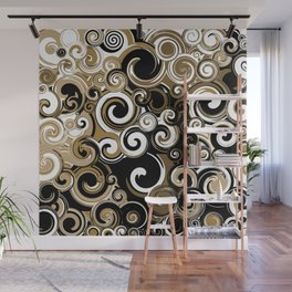 Coffee Swirls Wall Mural